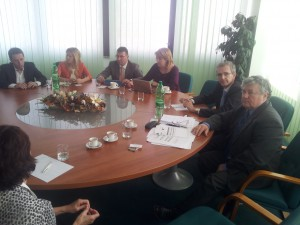 František Imrecze prezident FS ,Ivan Štefanec poslanec EP.Vladimír Sirotka prezident SAMP